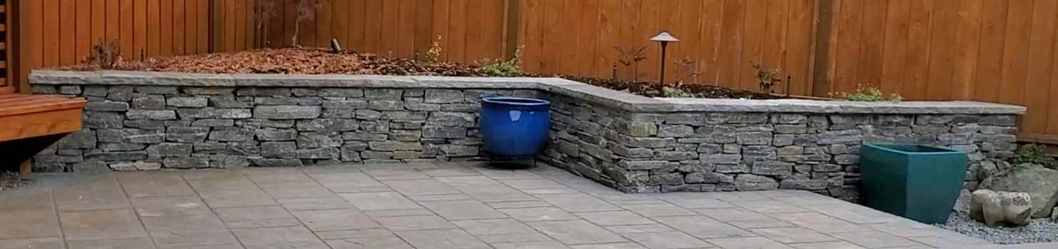 How to build a stone garden wall